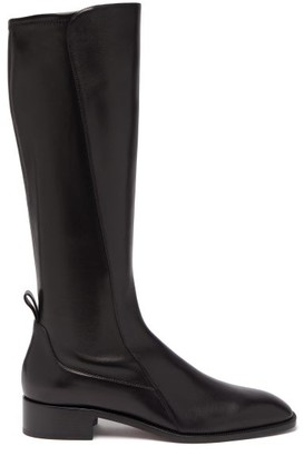 Christian Louboutin Tagastretch Leather Knee-high Boots - Womens - Black