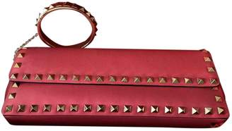 Valentino Rockstud Pink Leather Clutch bags