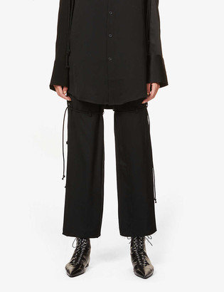 Song For The Mute Self-tie trims straight high-rise twill trousers