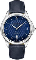 Emporio Armani Swiss Men's Automatic Esedra Blue Leather Strap Watch 43mm