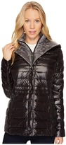 Vince Camuto Hooded Lightweight Down with Bib N1841 Women's Coat