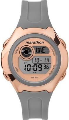 Timex Marathon By Marathon by Women's Digital 39mm Gray/Rose Gold-Tone Watch, Resin Strap