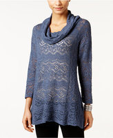 Style&Co. Style & Co Lace Cowl-Neck Sweater, Only at Macy's