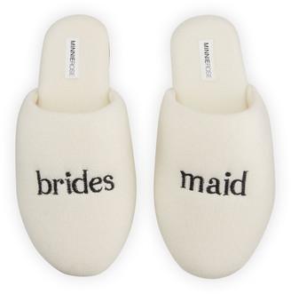 Minnie Rose Bridesmaid Cashmere Slippers