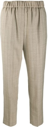 Peserico Pinstripe Elasticated Waist Trousers