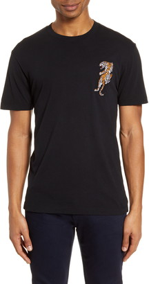 French Connection Tiger Applique T-Shirt