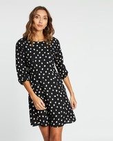 Dorothy Perkins Spot Fit-and-Flare Dress