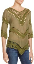 Aqua Macrame Tunic Top - 100% Exclusive