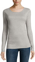 Liz Claiborne Long-Sleeve Cotton Tee