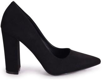 Tiffany & Co. Linzi Black Suede Block High Heel Heel Court Shoe