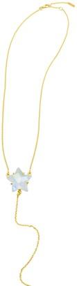 ADORNIA 14K Yellow Gold Vermeil Star-Cut Moonstone Y-Necklace