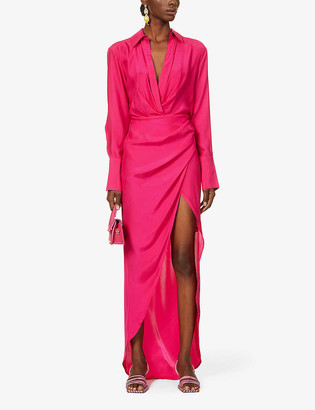 GAUGE81 Naha wrap silk maxi dress