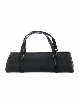 VBH Alligator-Trimmed Handle Bag Black