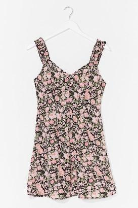 Nasty Gal Womens Floral Retreat A-Line Mini Dress - Black - 6