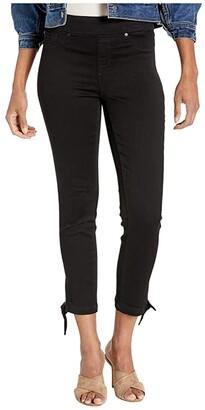 Tribal Pull-On Crop w/ Knot Detail in Black (Black) Women's Jeans