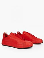 Officine Creative Red Leather Serrano Sneakers