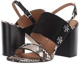 Tory Burch Kira 85 mm Sandal (Perfect Black/Warm Roccia) Women's Shoes