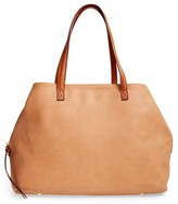 Sole Society Faux Leather Tote - Brown