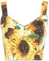 Dolce & Gabbana Sunflower-print cady bustier