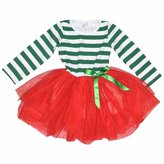 Unique Baby Girls Christmas Dress with Tutu (/XXL, Red & )