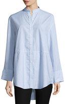 Joseph Lenny Long-Sleeve Pinstripe Poplin Shirt, Blue