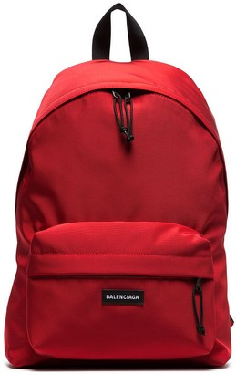 Balenciaga red Explorer dual compartment backpack