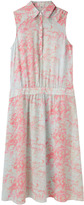 Suno Etched Floral Shirtdress
