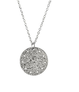 Latelita Cosmic Full Moon Necklace - White Topaz Silver