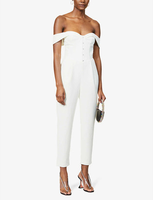 Lavish Alice Strapless crepe jumpsuit