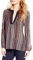 Jessica Simpson Calista Long Sleeve Printed Top