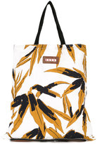 Marni convertible folding shopper tote - women - Linen/Flax/Leather - One Size