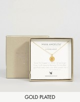 Dogeared Maya Angelou Legacy by Gold Plated Love Life Textured Heart Reminder Necklace