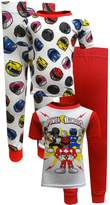AME Sleepwear Power Rangers 4 Piece Cotton Toddler Pajamas for boys