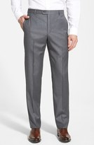 Hickey Freeman Men's 'B Series' Flat Front Wool Trousers