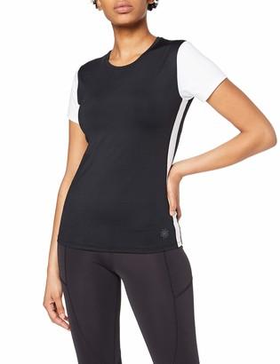 Aurique Amazon Brand Women's Sports Side Stripe Colour Block Top