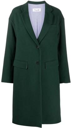 Brag-wette Loose Single-Breasted Coat