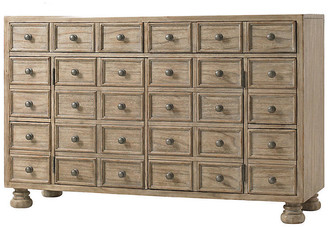 "One Kings Lane Brandon 58"" Media Console - Driftwood - frame, driftwood; hardware, antiqued pewter"