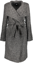 Charcoal Heather Tweed Wrap Coat
