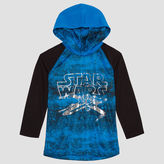 Star Wars Long Sleeve Hooded Neck T-Shirt-Preschool Boys