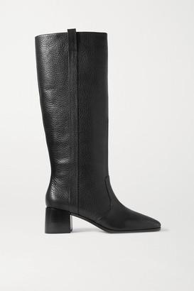 Loeffler Randall Ryan Textured-leather Knee Boots - Black