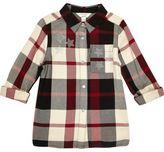 River Island Girls black and red check star stud shirt