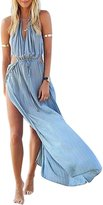 Globalsellinc Women Sexy Summer Cut Out Waist Split Beach Maxi Dress Sundress