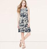 LOFT Frond Cutout Dress