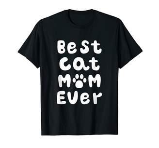 tk.TAKEO KIKUCHI Cute Cat Shirts By Best Cat Mom Ever Phrase Cute Funny Cat Gift For Women T-Shirt