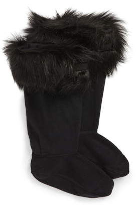 Hunter Tall Faux Fur Cuff Welly Boot Socks