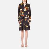 Gestuz Women's Cally Long Sleeve Dress Multi Colour Flower