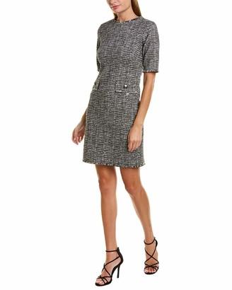 Taylor Dresses Women's Short Sleeve Textured Shift Dress