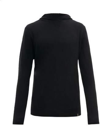 Belstaff Wool Blend Hooded Sweater - Mens - Black