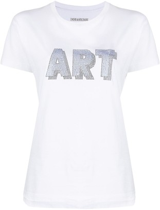 Zadig & Voltaire Art 3D embellished short sleeve T-shirt