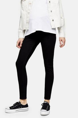 Topshop Womens **Maternity Black Under The Bump Jamie Skinny Jeans - Black